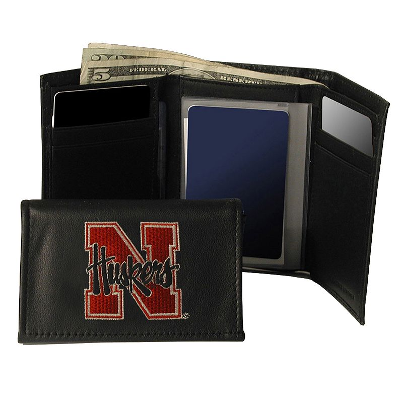 University of Nebraska Cornhuskers Trifold Leather Wallet