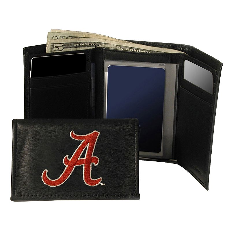 University of Alabama Crimson Tide Trifold Leather Wallet
