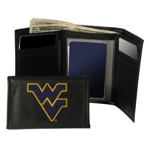 West Virginia University Mountaineers Trifold Leather Wallet
