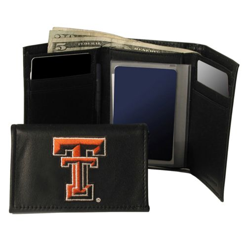 Texas Tech University Red Raiders Trifold Leather Wallet