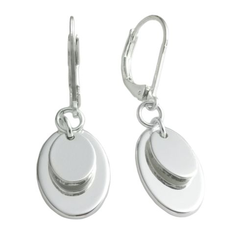 Chaps Silver Tone Drop Earrings