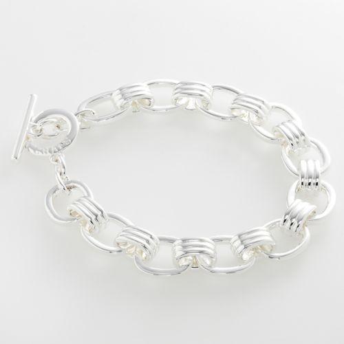 Chaps Silver-Tone Bracelet