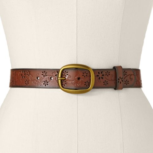 SONOMA life + style® Floral Leather Belt