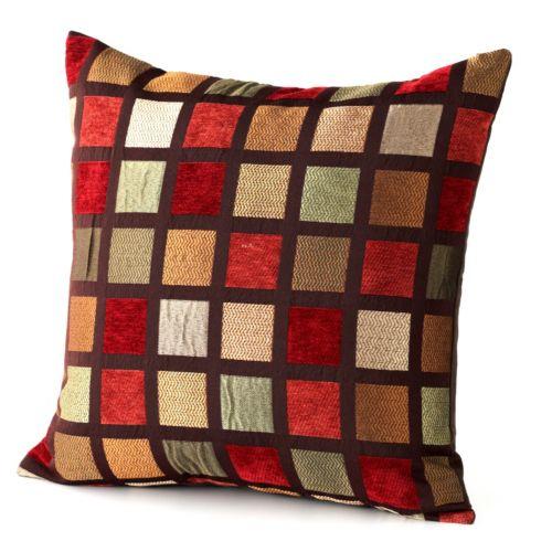 Chenille Plaid Pillow