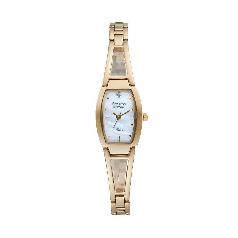 Armitron NOW Women's Diamond Half-Bangle Watch