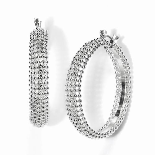 Simply Vera Vera Wang Bead Hoop Earrings