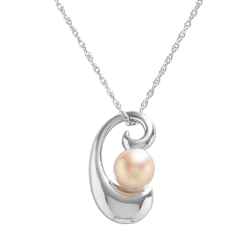 Sterling Silver Dyed Freshwater Cultured Pearl Pendant