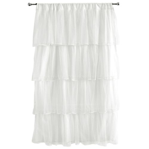 Tadpoles Tulle 63 Curtain Panel - White
