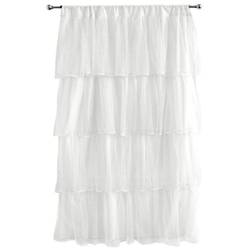 Tadpoles Tulle 63 Curtain Panel - White