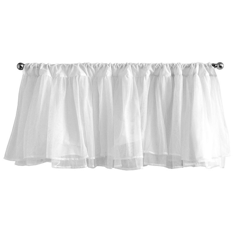 Tadpoles Tulle Window Valance - White