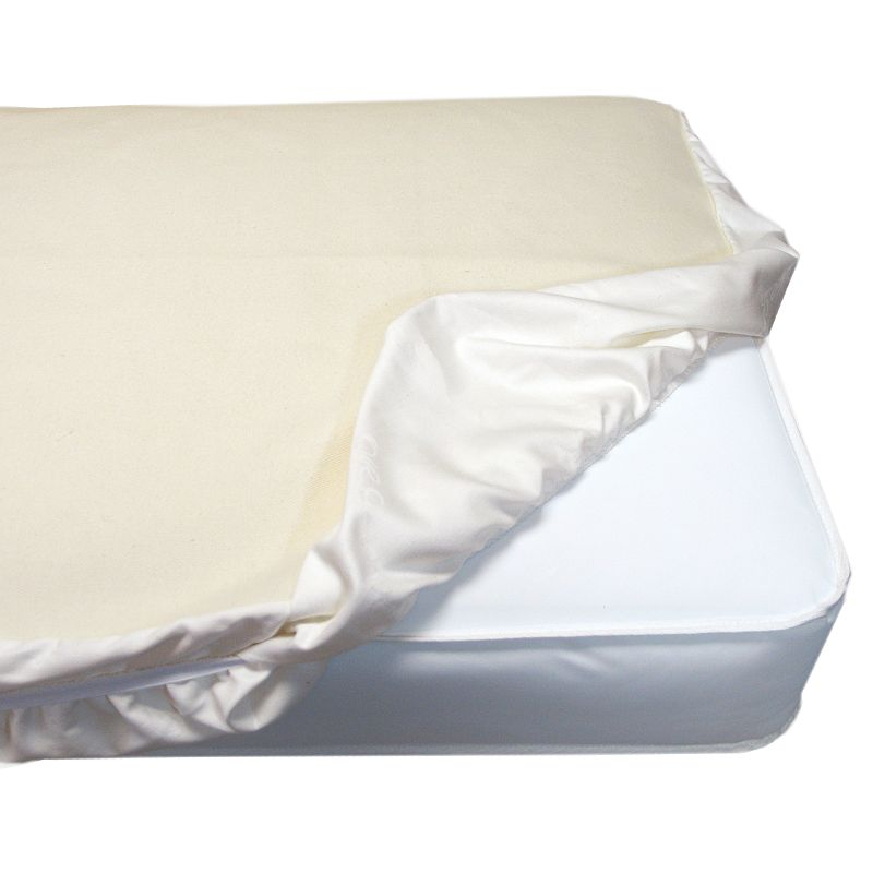 Naturepedic Organic Cotton Crib Mattress Fitted Protector Pad