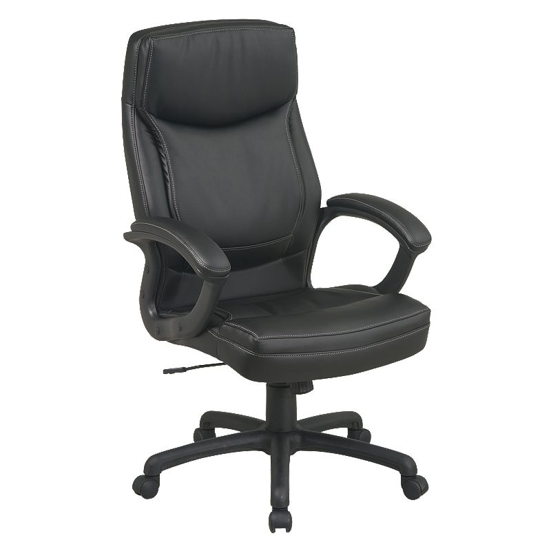 Office Star Products Eco-Leather High-Back Executive Chair