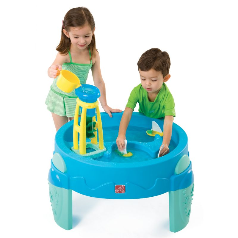 Step2 Waterwheel Activity Play Table, Blue, 1 ea 90069205