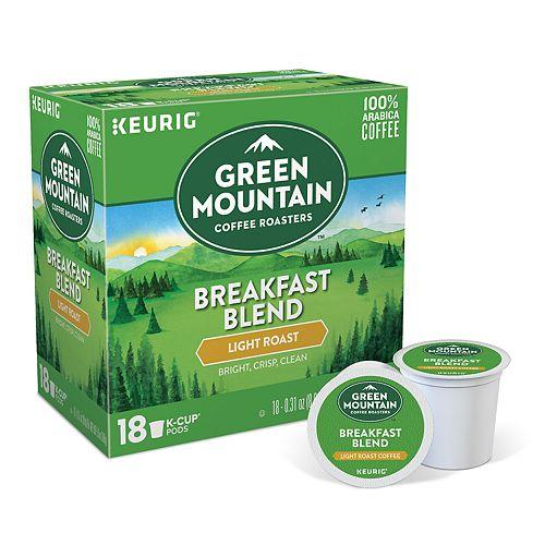 keurig k cup pod mountain coffee breakfast blend light roast. Black Bedroom Furniture Sets. Home Design Ideas
