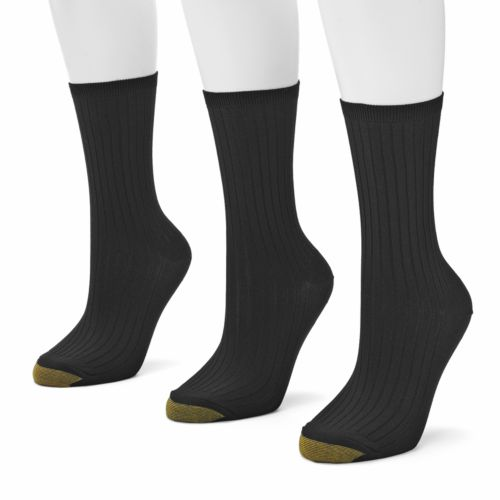 GOLDTOE 3-pk. Ribbed Dress Socks