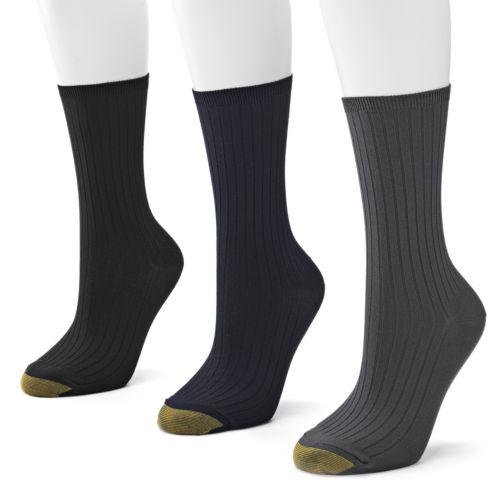 GOLDTOE 3-pk. Ribbed Dress Socks