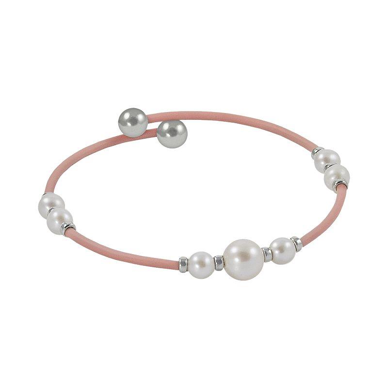 Sterling Silver Freshwater Cultured Pearl Stretch Bracelet