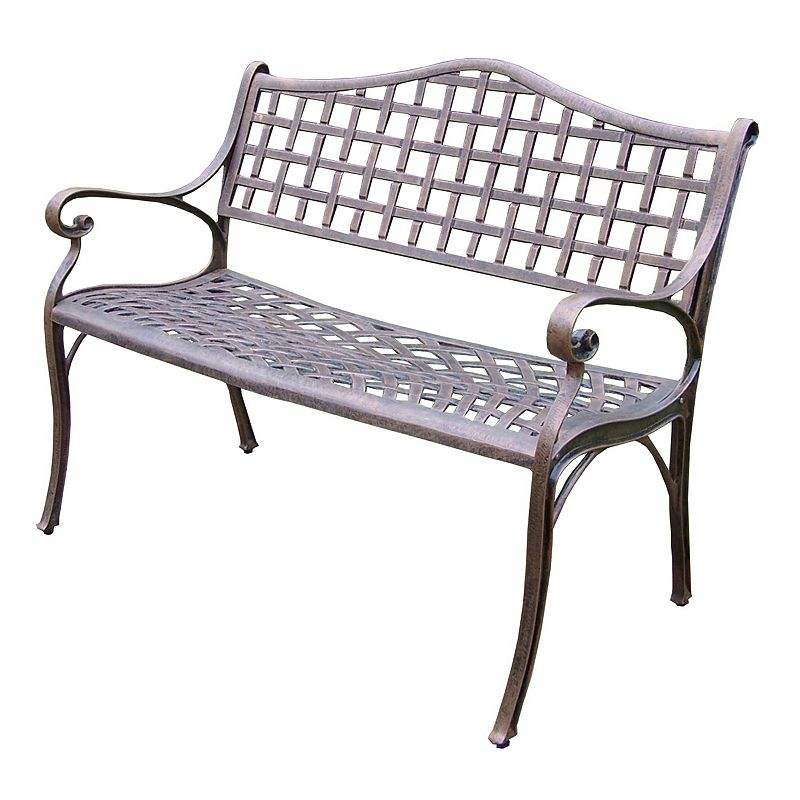 Oakland Living Elite Patio Settee Patio Bench