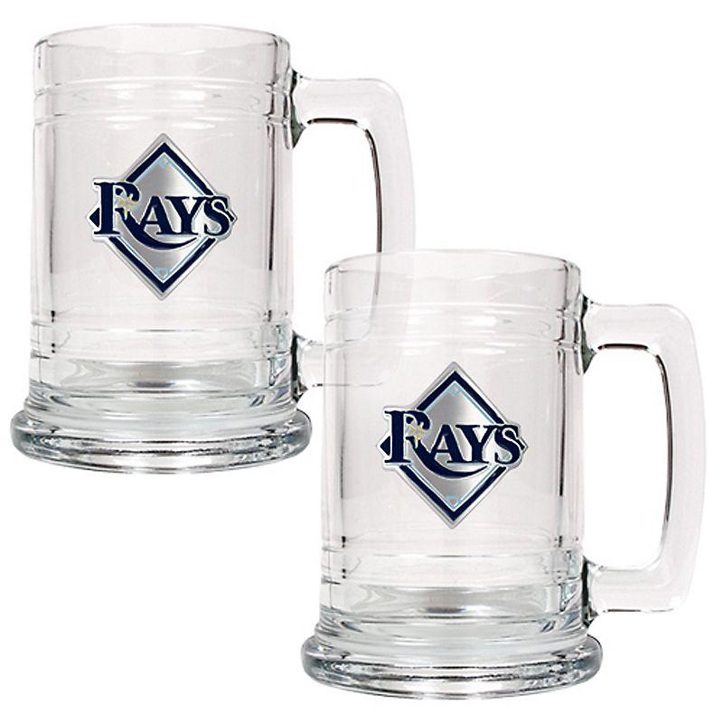 Tampa Bay Rays 2-pc. Glass Mug Set