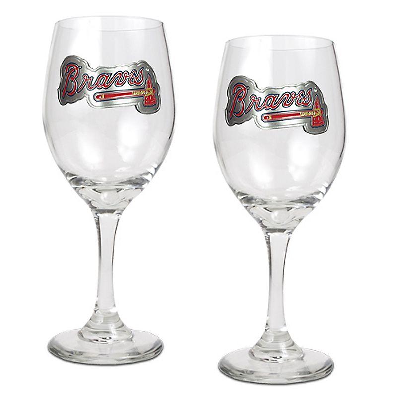 Atlanta Braves 2-pc. Wine Glass Set