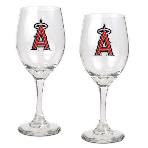 Los Angeles Angels of Anaheim 2-pc. Wine Glass Set