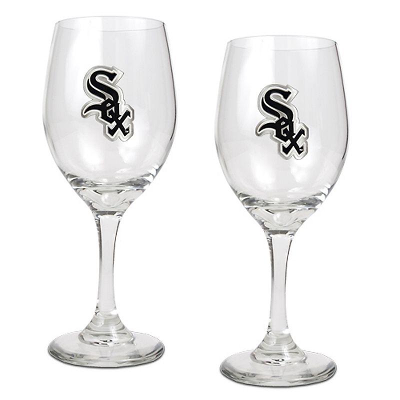 Chicago White Sox 2-pc. Wine Glass Set