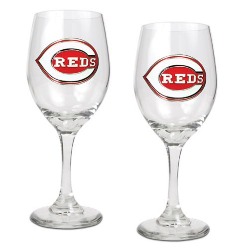 Cincinnati Reds 2-pc. Wine Glass Set