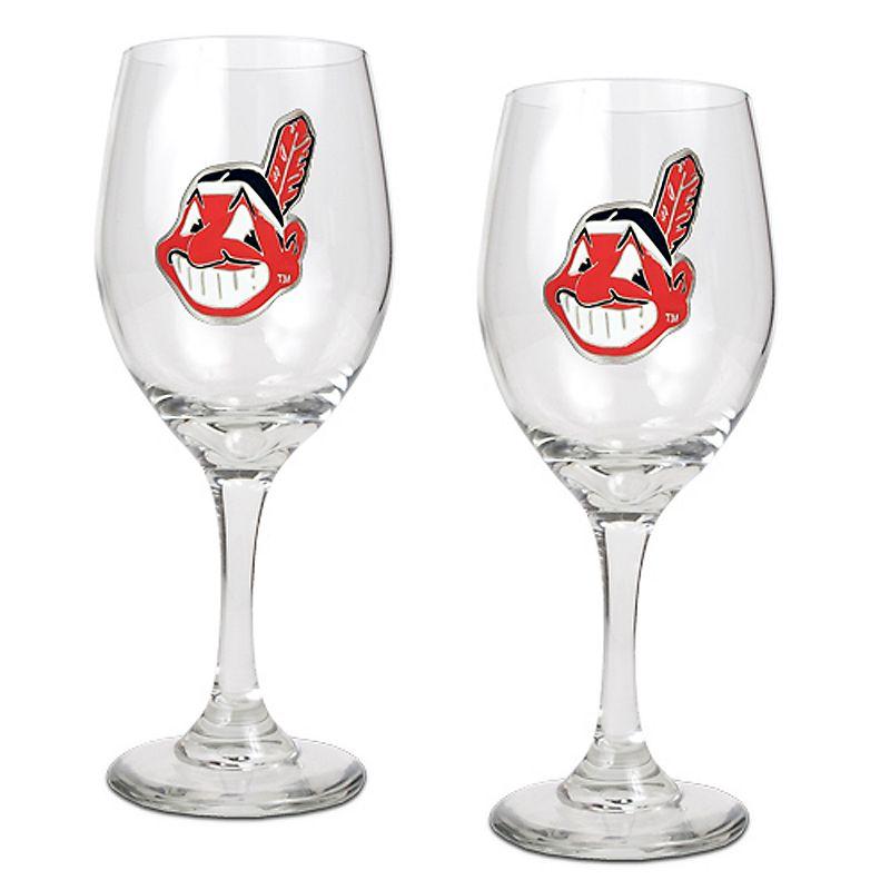 Cleveland Indians 2-pc. Wine Glass Set