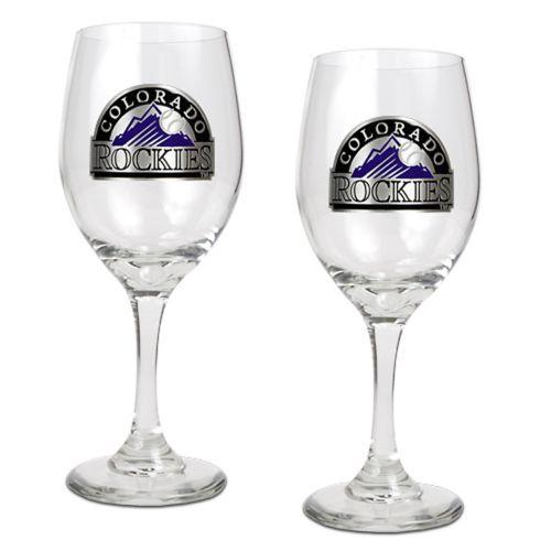 Colorado Rockies 2-pc. Wine Glass Set