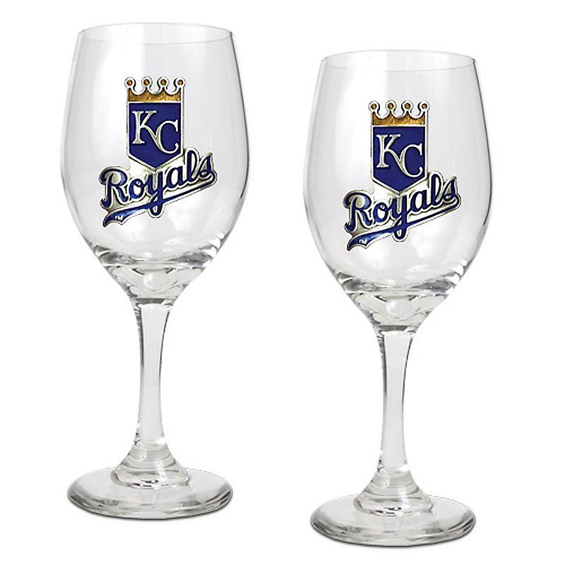 Kansas City Royals 2-pc. Wine Glass Set
