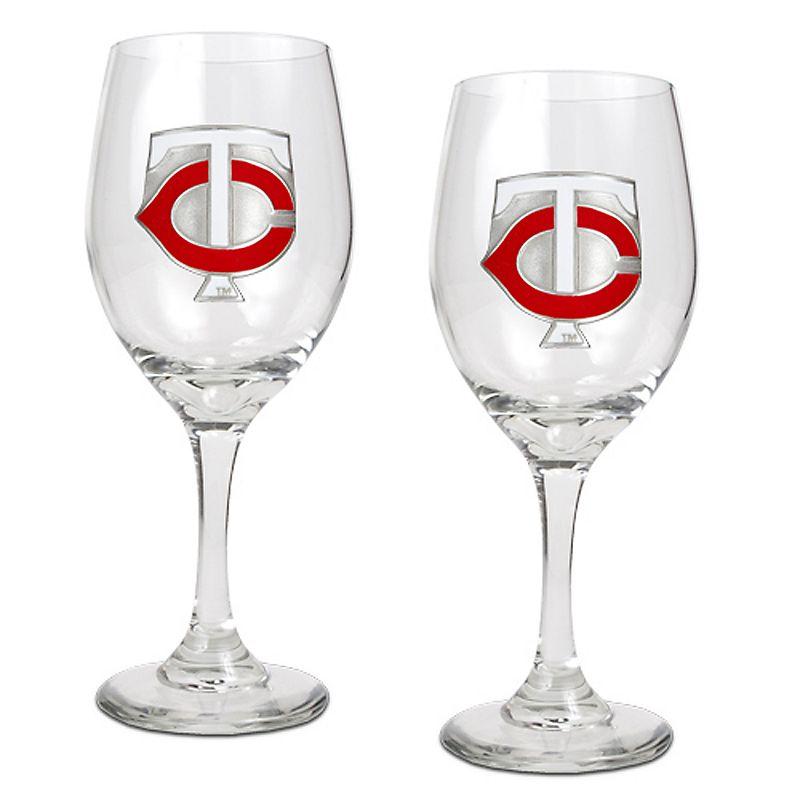 Minnesota Twins 2-pc. Wine Glass Set