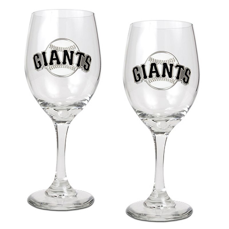 San Francisco Giants 2-pc. Wine Glass Set