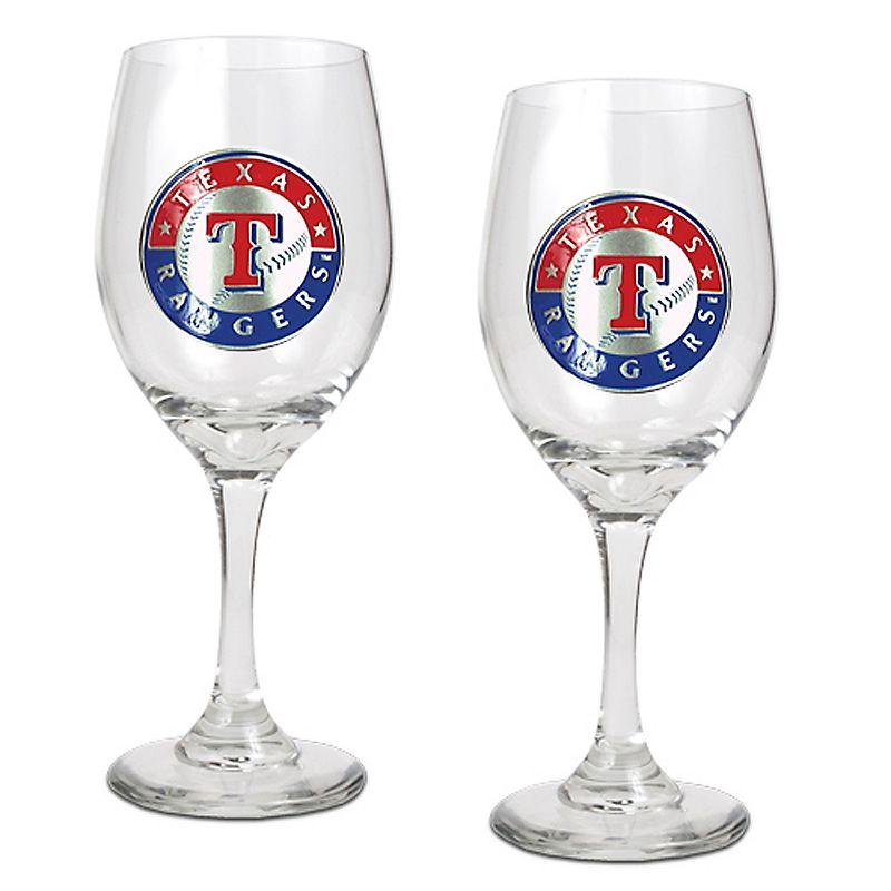 Texas Rangers 2-pc. Wine Glass Set