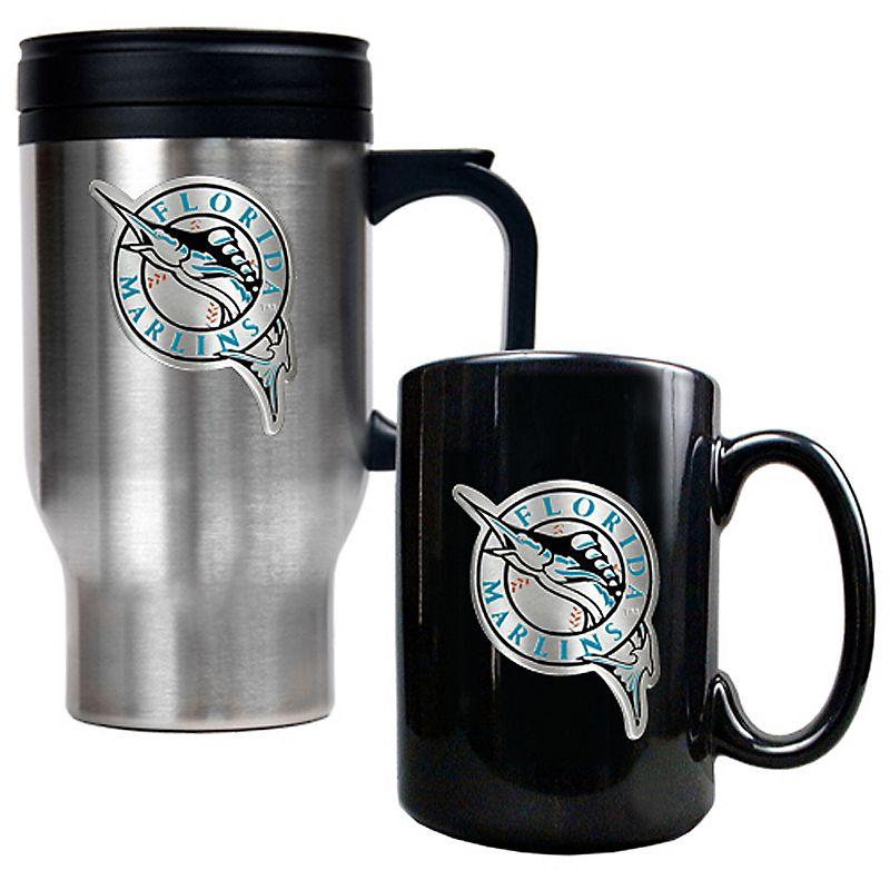 Florida Marlins 2-pc. Travel Mug Set