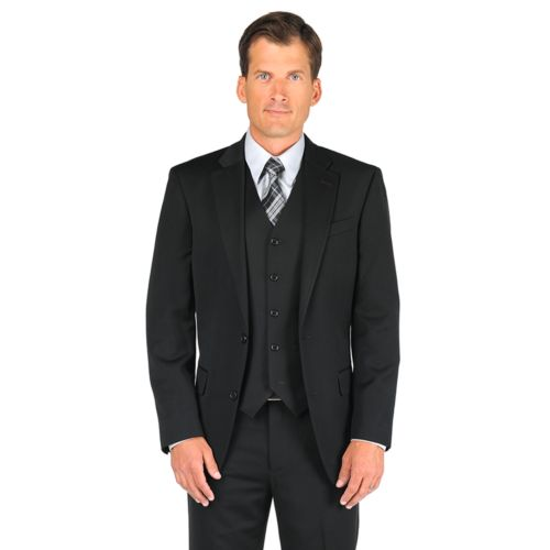 Dockers® Black Herringbone Suit Jacket