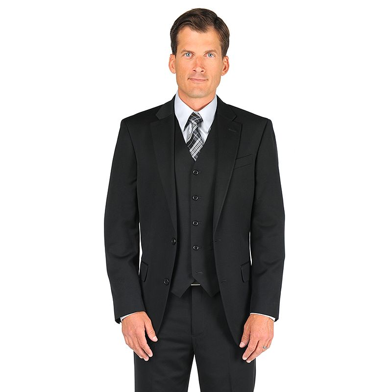 Men's Dockers® Black Herringbone Suit Jacket