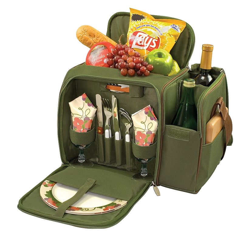 Picnic Time Malibu Pine Green Insulated Picnic Cooler