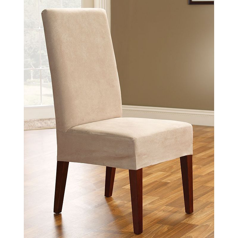 sure fit faux suede dining room chair slipcover