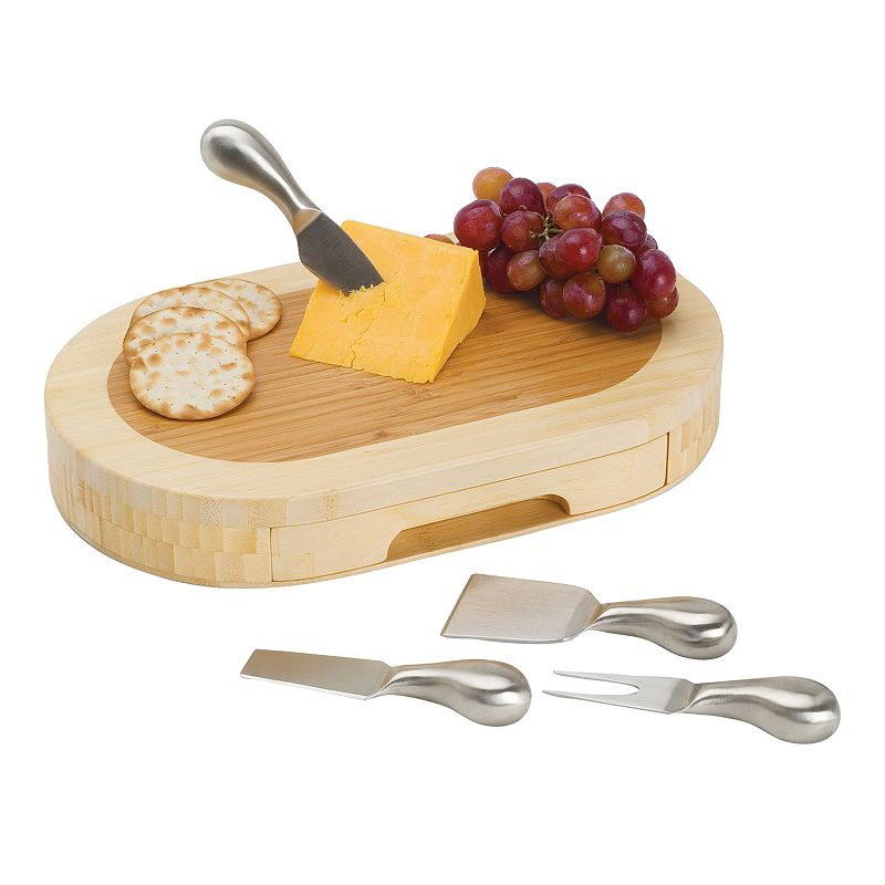Picnic Time Formaggio 5-pc. Bamboo Cheese Board Set