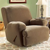 Sure Fit™ Pin-Striped Recliner Slipcover