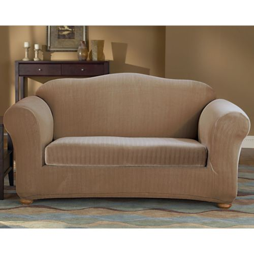 Sure Fit Pin-Striped Loveseat Slipcover