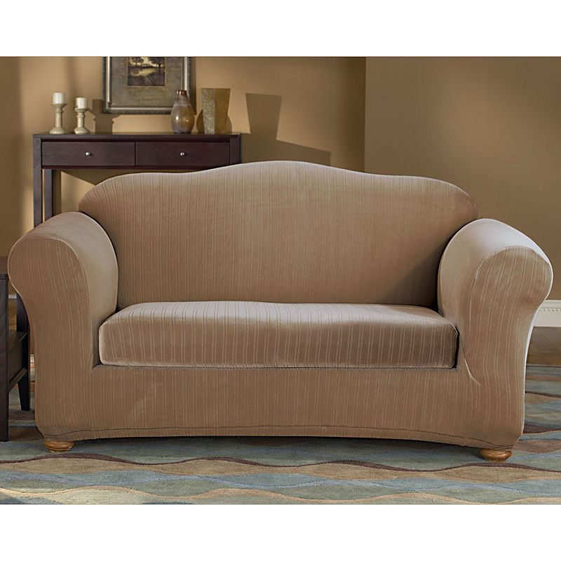 Sure Fit Pin Striped Loveseat Slipcover Dealtrend