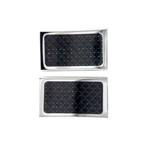 Stainless Steel Carbon Fiber Cuff Links
