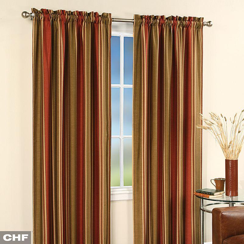 burgundy window curtain