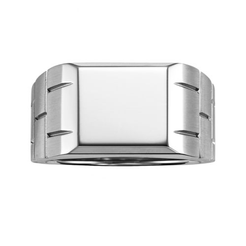 AXL by Triton Stainless Steel Brick Ring - Men