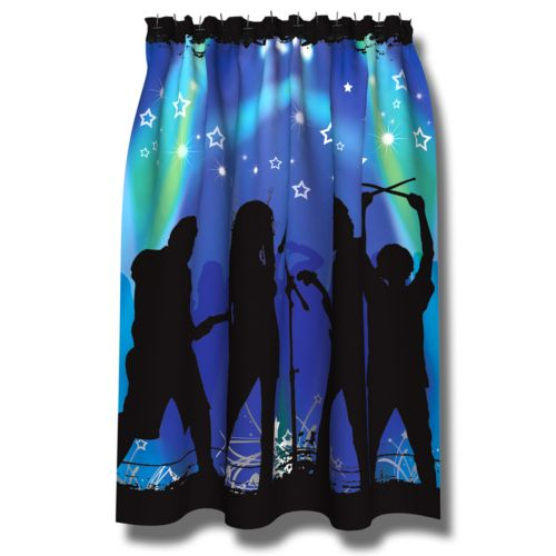 Rock Star Fabric Shower Curtain