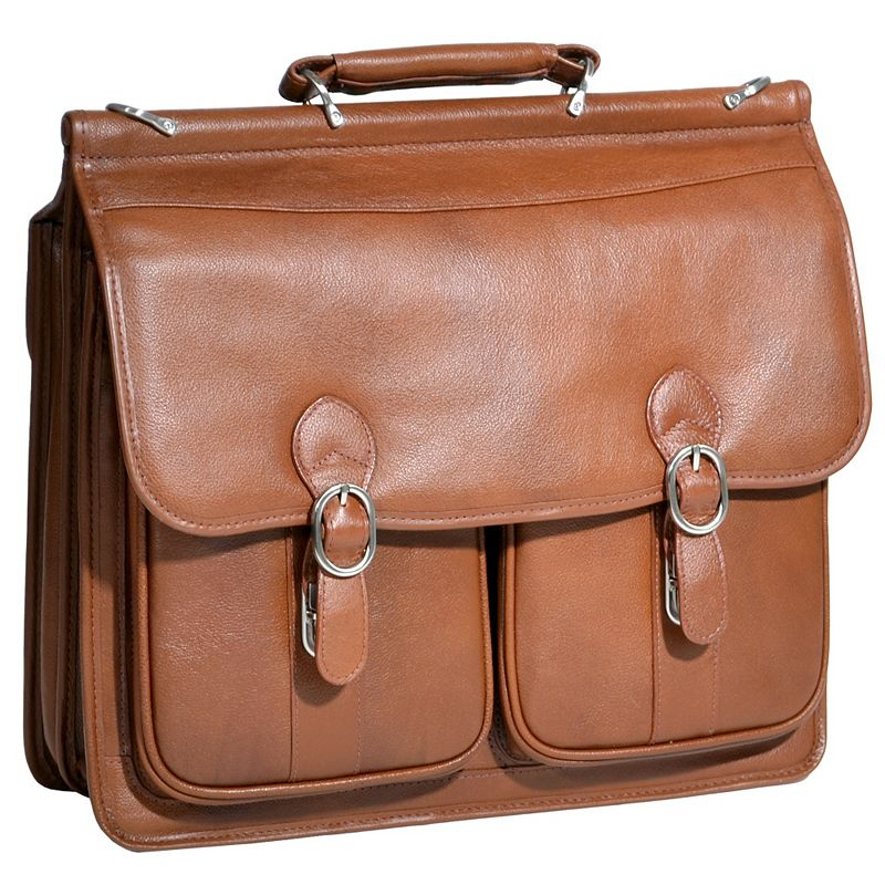 McKlein Hazel Crest Leather Laptop Case