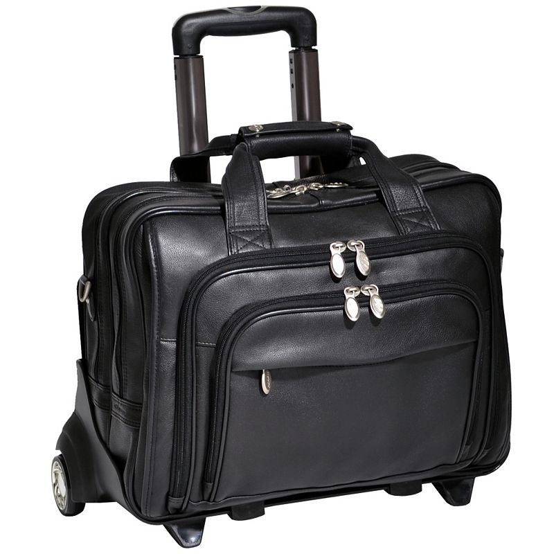 McKlein Gold Coast Wheeled Leather Laptop Case