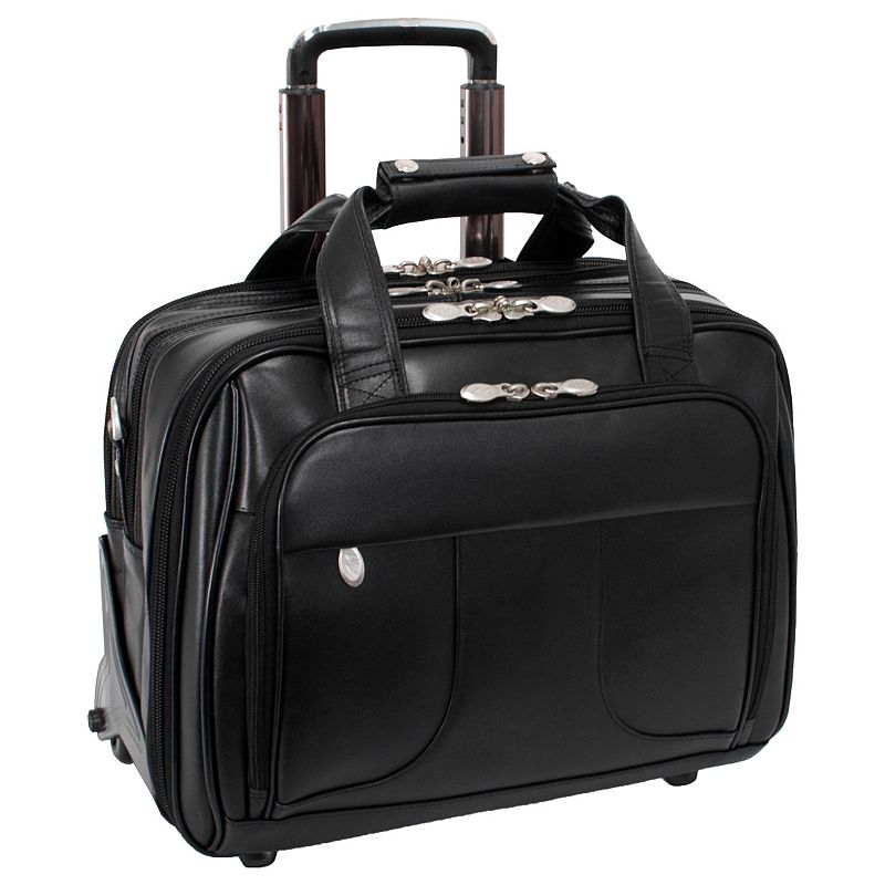 McKlein Chicago Detachable-Wheeled Overnight Briefcase