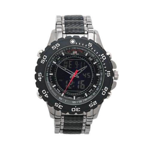 U.S. Polo Assn. Gunmetal Analog and Digital Chronograph Watch - Men